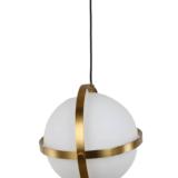 sfera vetro e ottone appesa