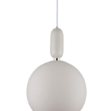 Lampada sospensione sfera vetro bianca
