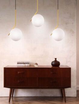 tris luci lampade a sfera soffitto