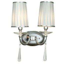 lampada parete cromata due luci
