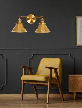 applique ottone design stile industriale vintage