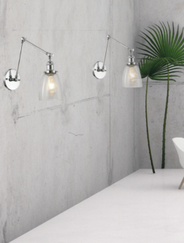 applique a parete color acciaio in stile vintage industriale di design