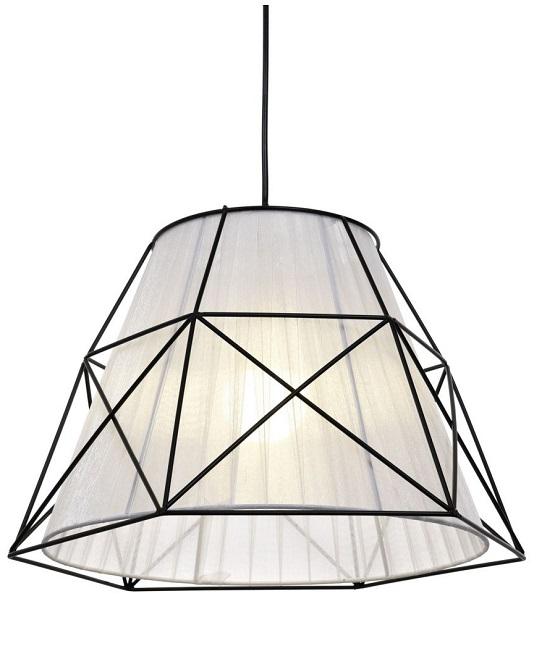 Lampada nordica da soffitto con paralume bianco