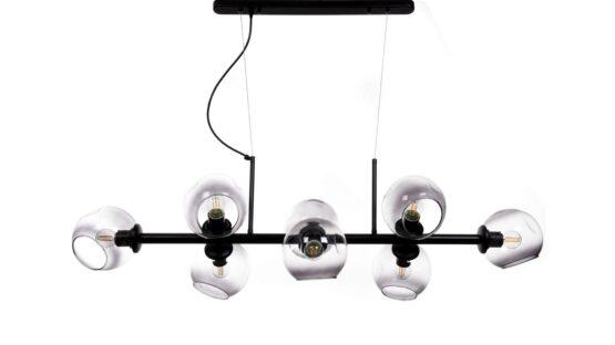 lampada soffitto vetro affumicato