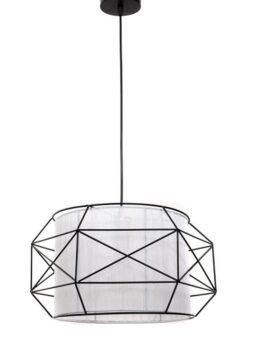 lampada a sospensione scandinava con struttura in metallo