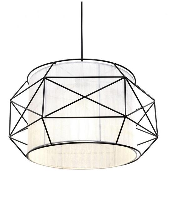 lampada nordica a sospensione bianca e nera