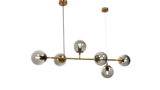lampada vintage da soffitto sfere vertro e otton
