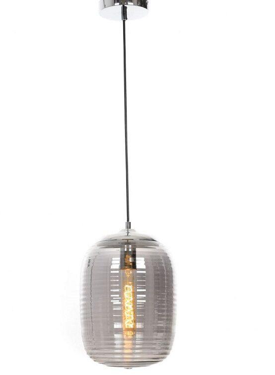 lampada sospesa paralume vetro attacco cromato