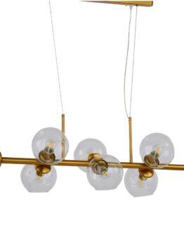 Lampadario sfere sospensione ottone