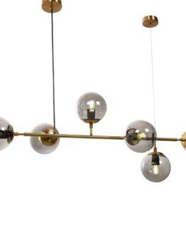 lampadario vintage con sfere vetro