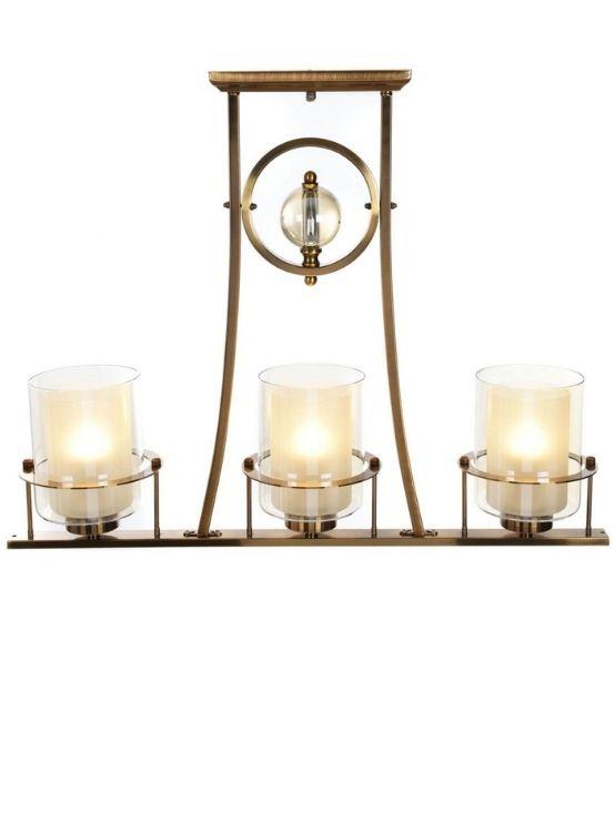 lampadario ottone moderno 3 luci