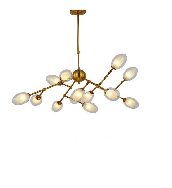 lampadario sputnik ottone vintage