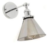 lampade da parete cromata braccio regolabile
