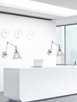lampade da parete di design stile moderno con braccio flessibile regolabile
