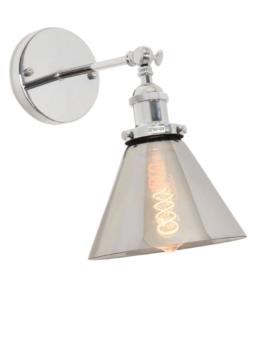 lampade da parete di design paralume cromato