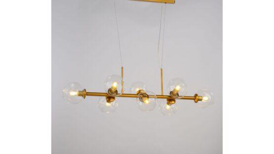 lampadario sospensione sfere ottone vintage 8 luci