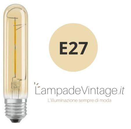 lampadina e27 lunga vintage