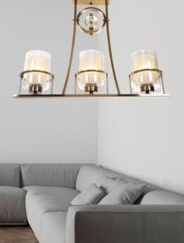 lampadario plafoniera modoerna ottone