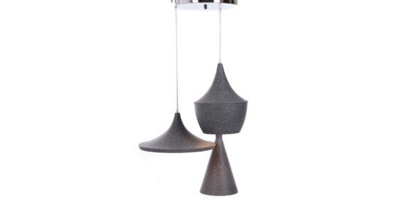 tris di lampade industriali vintage