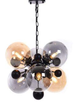 Lampade vintage industriali 6 luci vetro e metallo