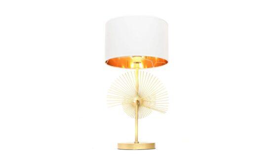 lampade da comodino bianche e oro