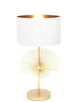 lampada da comodino di design bianca e oro