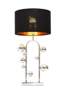 lampada da tavolo elegante cromata