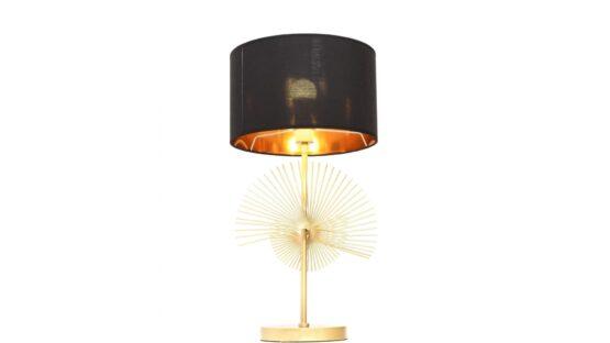 lampada scrivania nera e oro elegante