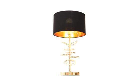 lampade scrivania struttura oro design moderno