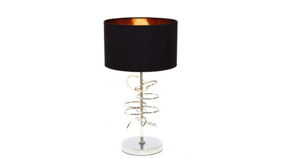 lampada tavolo design cromata e nera