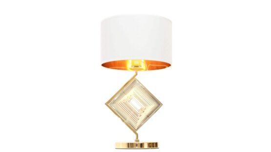 lampada oro classica da tavolo