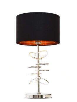 lampada tavolo moderna cromata e nera