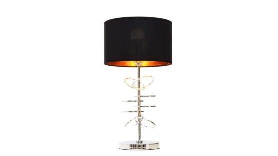 lampade da tavolo cromate nere