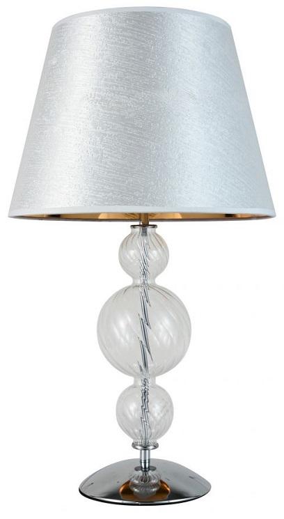 Lampada da tavolo con paralume argento