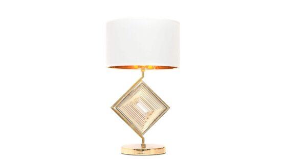 lampada tavolo elegante classica con paralume e oro