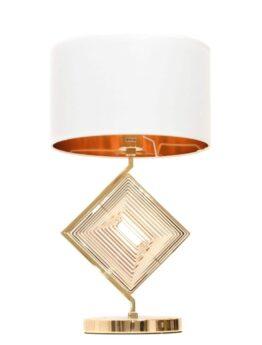 lampada da tavolo elegante classica con paralume bianco