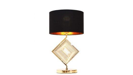 Lampade moderne per locali con paralume nero e struttura or