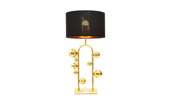 lampade da scrivanie con sfere dorate