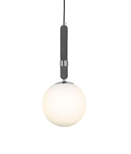 lampada a sospensione sfera di vetro
