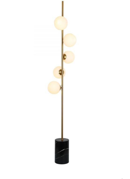 lampada da pavimento con sfere
