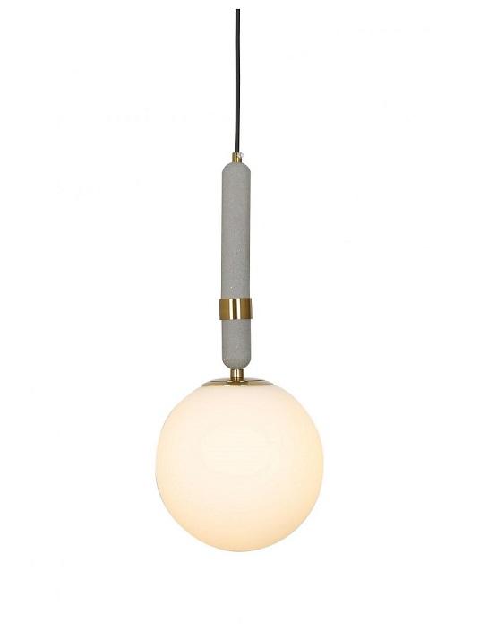 lampada sfera vetro opaco e ottone
