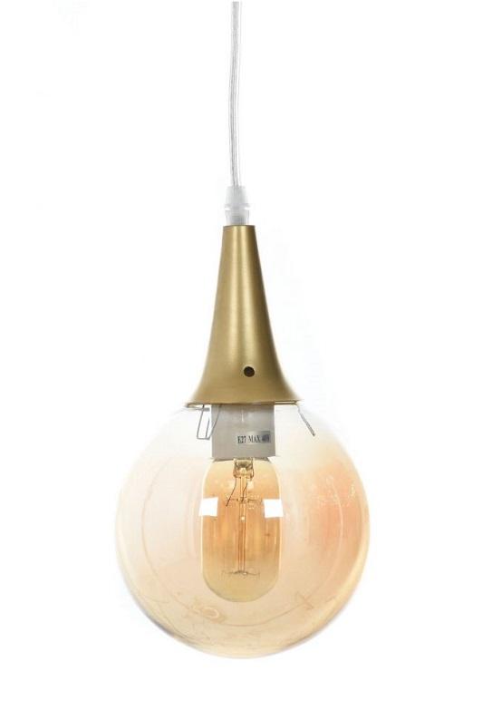 lampada industrial chic vetro ambrato