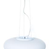 plafoniera bianca sospesa in vetro