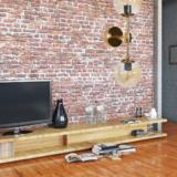 applique stile vintage industriale in vetro ambrato